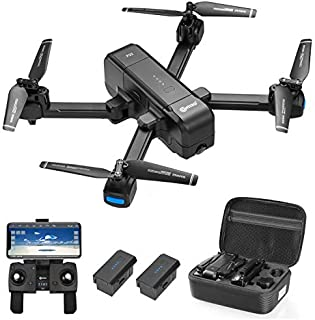 Contixo F22 Plus Foldable GPS Drone with Camera for Adults - 40 Mins Max Flight Time - 1080p HD FPV Gimbal Quadcopter - Multiple GPS Functions for all experience levels - 2 Batteries and Carrying Case