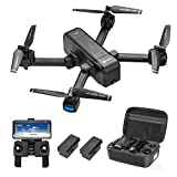 Contixo F22 Plus Foldable GPS 1080P Camera Photography Drone | Selfie, Gesture, Follow Me, Gimbal RC WiFi FPV Quadcopter Beginners Drone with Camera for Adults 40 Minutes Flying Time Two Batteries