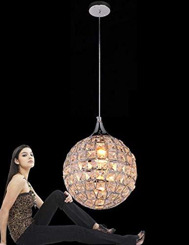 DJY-JY Luz de techo, sola cabeza K9-cristal lámpara colgante rústica lámpara colgante restaurante esférico moda cristal luz salón lámpara colgante niños Ø20cm E14 altura Adjusta