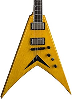 Best Dean Dave Mustaine VMNT Korina Electric Guitar with Case, Trans Amber Review