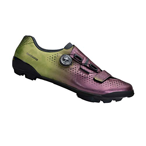 SHIMANO SH-RX800 High Performance Gravel Racing Shoe, Purple Green, 43
