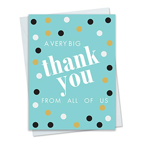 Big Thank You from All of Us - Oversized Card with Large Envelope - Aqua