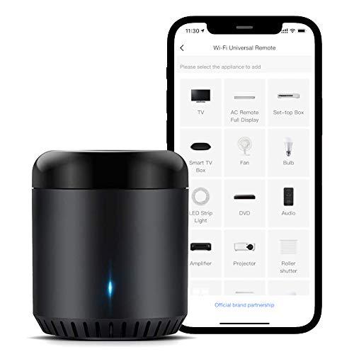Broadlink RM Mini3 Smart WiFi IR Control Remoto Universal Smart Home Hub, Todo en uno control infrarojo para todos tus dispositivos – Negro