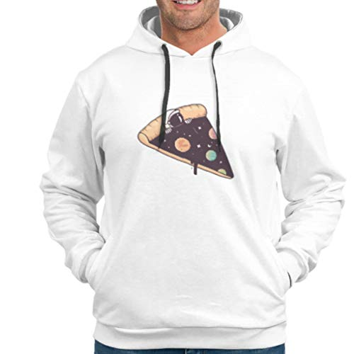 O5KFD&8 Männlich Sweatshirts Frauen Pizza NASA Drucken Retro - Lustiger Astronaut Rundhals Loose-Fit Trainingsjacke White 4XL