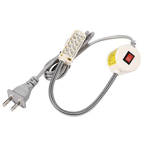 Akozon Máquina de Coser Luz Lámpara de Cuello de Cisne Interruptor de Base Magnética Montaje Flexible(10 Leds)