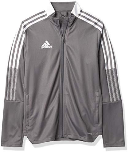 adidas unisex-child Tiro 21 Track Jacket Team Grey Small