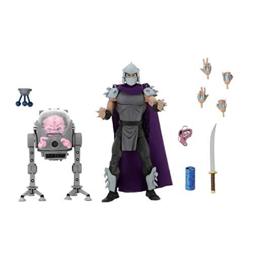 FJKYF Anime Statue Modell2 Stück/Set Us-Aktionen Cartoon Figuren Shredder Krang Boss Turtles Spielzeug Für Kinder Geburtstagsgeschenk 18Cm
