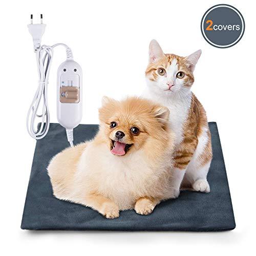 Lypumso Haustier Heizkissen Heizmatte Wärmematte für Katzen & Hunde,Katzendecken Thermomatte Umweltfreundliche Sicherheit wasserdicht Heizdecke (S)