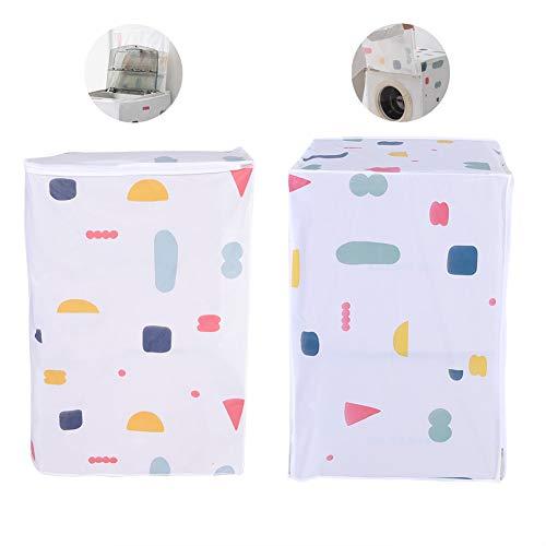 Cubierta para lavadora, cubierta para lavadora secadora, cubierta impermeable con cremallera para lavadora, protección contra el polvo para lavadoras de carga superior(Lavadora tipo clamshell)