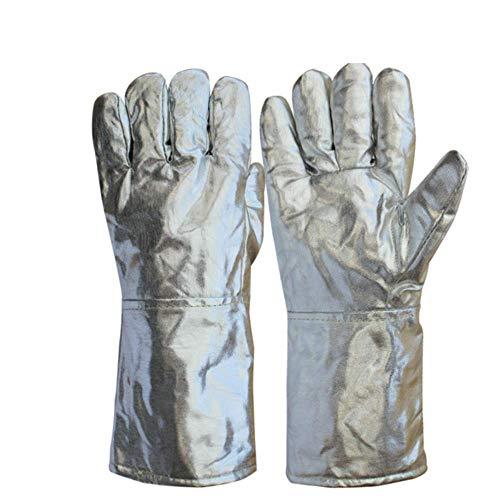 YUHANG Aluminiumfolie-Handschuhe/Hochtemperatur- Und Feuerfeste Schmelze, Fünf-Finger- / Aluminiumfolie-Handschuhe/Strahlenschutz / 1000 Grad