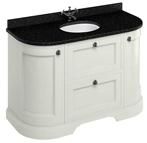Casa Padrino Waschschrank/Waschtisch mit Granitplatte Türen und Schubladen - Limited Edition, Farbe Badmöbel:Sand