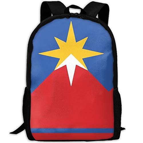 nbvncvbnbv Mochilas de marchaMochilas Tipo Casual Pocatello of Ficial Flag.PNG Full 3D Print Backpack College School Laptop Bag Daypack Travel Shoulder Bag For Unisex Camping Bookbag