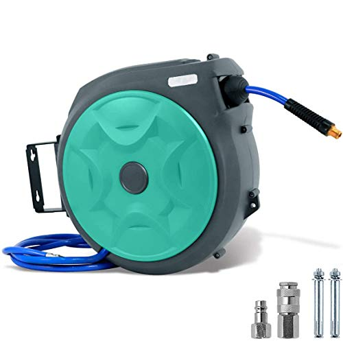 Enrollador automático de manguera de aire comprimido para montaje en pared, con manguera, con conexión de 1/4', 20 m