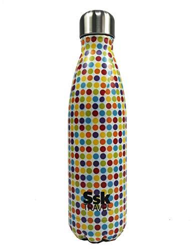 SsK TRAVEL Botellas de Agua térmicas de Acero (Lunares)