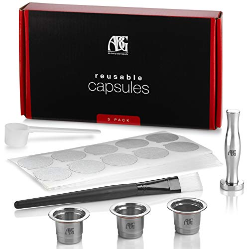 Our #4 Pick is the Alchemy Bar Goods Reusable Nespresso Pods