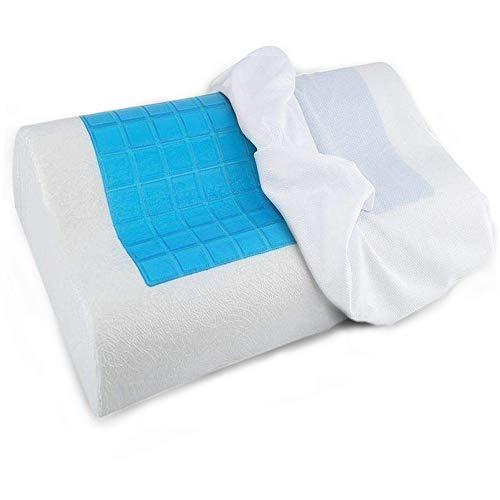 The Bamboo Pillow Almohada cervical con gel frio ideal menopausia - Almohada viscoelastica tipo cojín ortopédico - Almohadas de espuma de memoria para dolor cervical y espalda - 1 x Cojín cervical