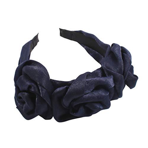 Minkissy Rose Stirnband Haarband Blume Headwear Haar Reifen Headwear Zubehör für Frauen Weiblich Valentinstag Hochzeitsfest