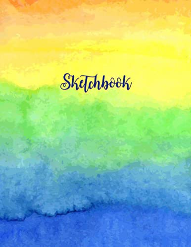Sketchbook: The best blank sketchbook, paint art multi color cover for painting, drawing, sketching and doodling, gift idea, chi