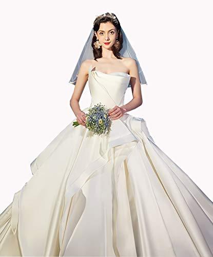 Satin Prom Dress, Wedding Lady Church Chapel Train Wedding European and Tube Top Simple Satin Bridal Gown,Longsection,Custommade