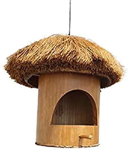 Comedero de pájaros de bambú