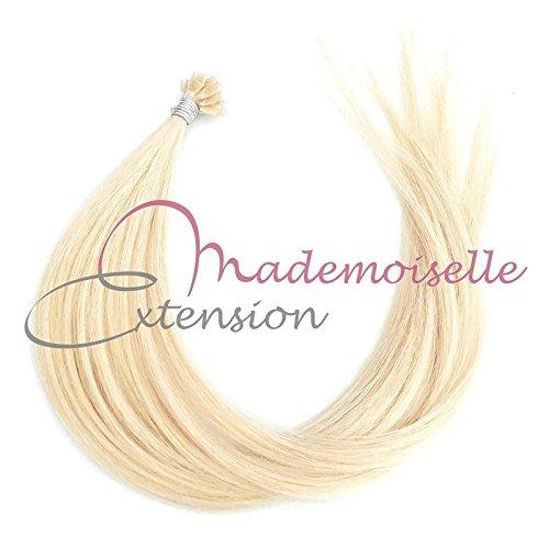 Extension Cheveux kératine - Gamme Density - Blond platine - 55/60 cm