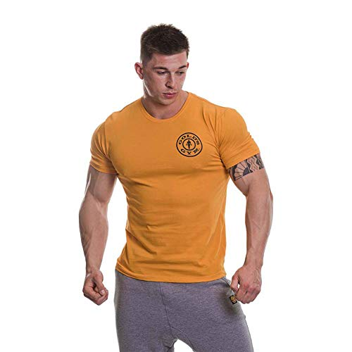 Golds Gym Basic Left Breast T-Shirt Camiseta para Hombre