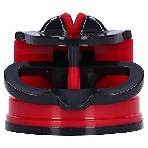 Afilador De Cuchillos, Afilador De Tijeras ABS + Resistencia Al Calor De Acero De Tungsteno para Afilar Cuchillos para Cocina(Rojo)