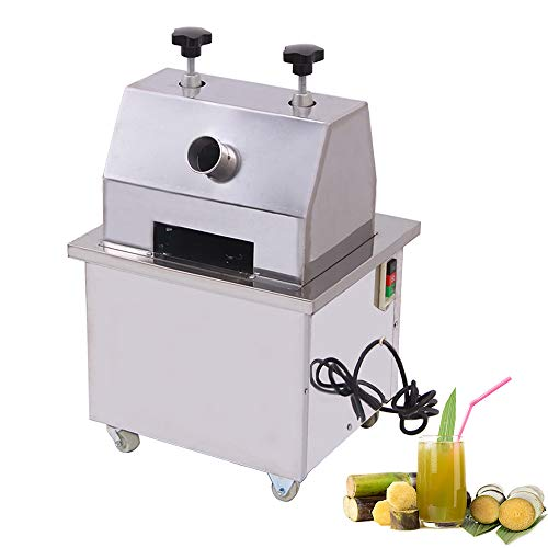 ZXMOTO Commercial Sugar Cane Juicer 110V Electric Sugar Cane Ginger Fruit Press Juicer With 304 Stainless Steel Rolls,550LBS/H