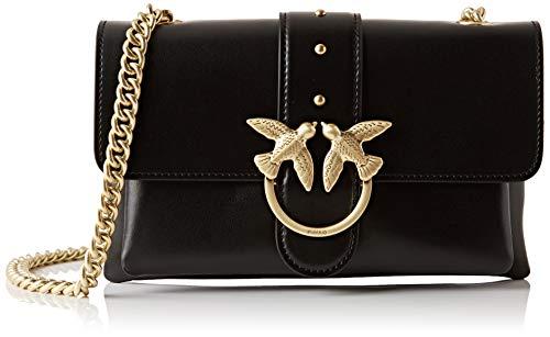 Pinko Mini Love Soft 1, bolso bandolera para Mujer, negro, 4x14x24 centimeters (W x H x L)