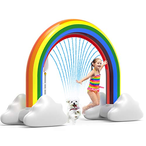 Rainbow Sprinkler Toys, Outdoor Inflatable Pools Summer Fun Spray Water Toy, Outside Backyard Family Water/Birthday Party Toy for Children Infants Toddlers,Boys, Girls 3 4 5 6 7 8 Year Old