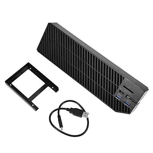 Carcasa de disco duro para Xbox One, expansión de memoria externa 2 USB 3.0 HUB y ventilador de refrigeración para Xbox One