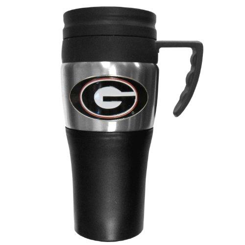 College NCAA Georgia Bulldogs Steel Travel Mug with Handle