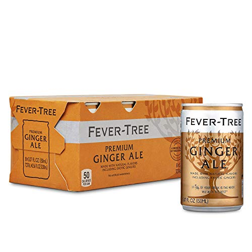 Fever-Tree Premium Ginger Ale Cans, No Artificial Sweeteners, Flavorings & Preservatives, 5.07 Fl Oz (Pack of 24)