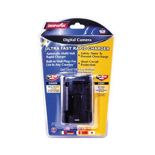 DIGIPOWER SOLUTIONS TC741 Charger for Canon & Sony Digital Camera Batteries