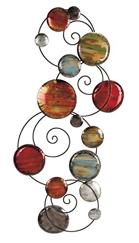 """Deco 79 Metal Wall Decor, 41 by 17"""""""