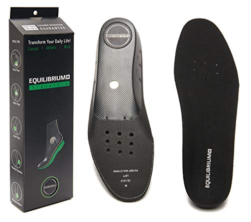 Equilibrium+ Orthotic Plantar Fasciitis Arch and Balance Support Shoe Insoles for Men and Women Best Comfortable Inserts Relieving Foot, Arch,and Knee Pain,for Running,Walking,Sports(Men's/10-10.5)