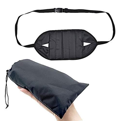 Hängematte,hängematte Outdoor, Tragbare Mini-Fußablage Hängematte for Office Home Stuhl, für Trekking, Reise, Strand, Garten (Color : Black)