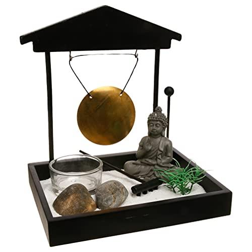 Giardino ZEN Buddha con gong.