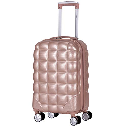 Flight Knight Bubble Suitcase Ryanair easyJet Jet2 Approved 55x35x20cm Hardcase Cabin Luggage Carry On Hand Luggage