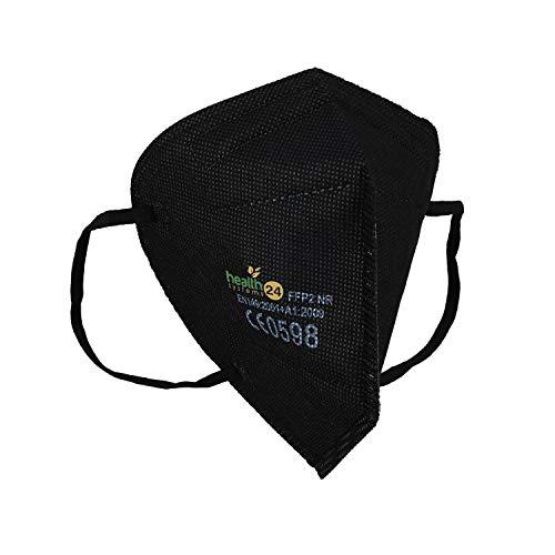 Hochwertige Schwarze FFP2 NR Atemschutzmasken 10 Stück in luftdichter Einzelverpackung CE Zulassung nach Norm EN149: 2001 + A1:2009