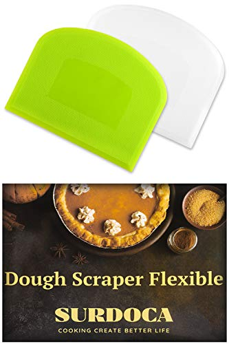 SURDOCA Bread Dough Bench Bowl Scraper 2 PCs
