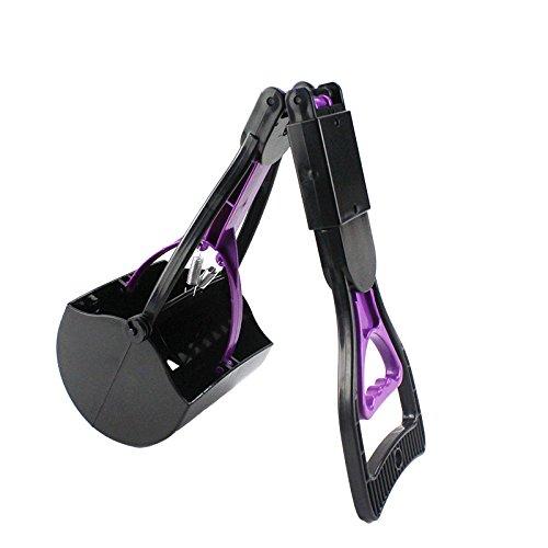 Escomdp Respectueux de l'environnement Chien Chat Caca Scooper Portable Pelles et Sacs Ramasse-crottes (Violet)