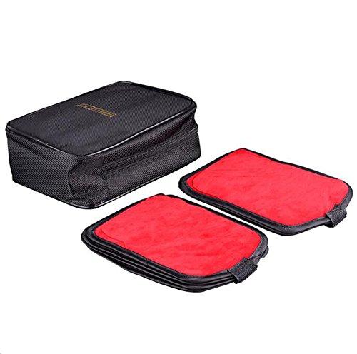 Zomei 16tasche in bustina lente filtro filtro/quadrato circolare marsupio può contenere fino a 100x 150mm, per Canon Nikon Sony fotocamera filtri Cokin a/P/Z e UV CPL FLD filtro, filtro nero in