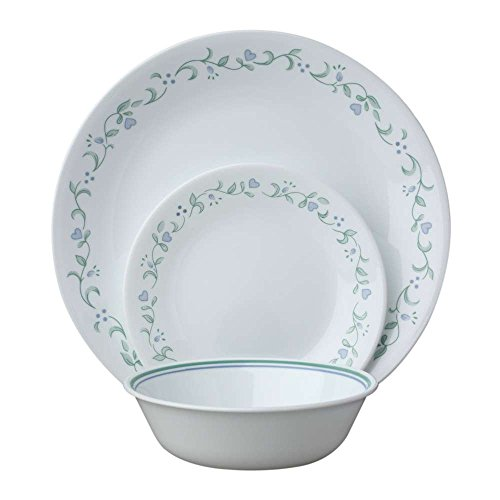 Corelle Service for 6, Chip Resistant, Country Cottage Dinner Plates, 18-Piece