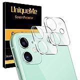 [2 Pack] UniqueMe Protector de lente de cámara Compatible con iPhone 11 (6.1') / iPhone 12 mini (5.4') Cristal Templado, Protector de Pantalla [Sin Burbujas] [9H Dureza ] HD Vidrio Templado