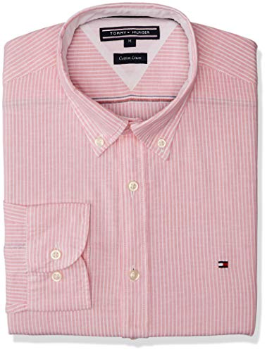 Tommy Hilfiger MW0MW06069-Camisa casual Hombre Rose L