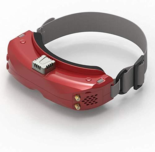 Skyzone SKY04X FPV Goggle, Skyzone SKY04X OLED Goggle 5.8G 48CH Steadyview Receiver 1280960 DVR FPV Goggle con Head Tracker Fan para RC Racing Drone (rojo)