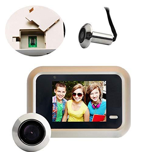 CAISE Puerta Mirilla cámara-2.4 Pulgadas Digital Door Viewer & doorbell-300.000 cámaras de...