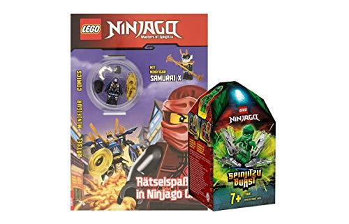 Collectix Lego Ninjago - Set: 70687 Lloyds Spinjitzu-Kreisel + Rätselspaß in Ninjago City mit Samurai X -Minifigur (Softcover)