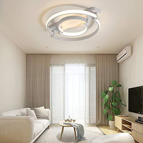 SXFYWYM Moderne houten led-plafondlamp met afstandsbediening, dimbaar, voor woon- en slaapkamer